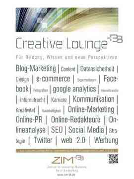 Poster Creative Lounge Berlin Brandenburg